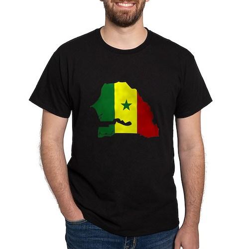 senegal Flag Map T-Shirt