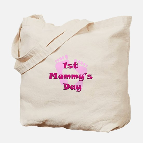 1st Mommy's Day - pink feet - Tote Bag