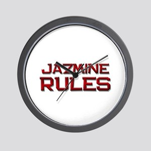 jazmine rules Wall Clock