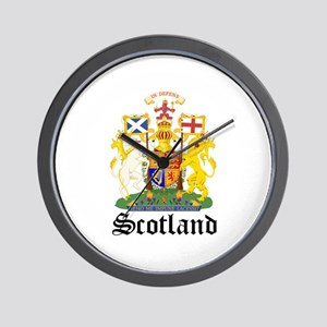 scottish Coat of Arms Seal Wall Clock
