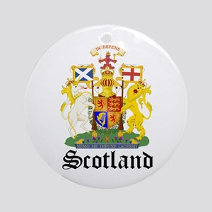 scottish Coat of Arms Seal Ornament (Round)