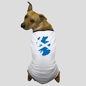 Scotland Flag Map Dog T-Shirt