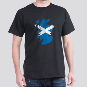 Scotland Flag Map Dark T-Shirt