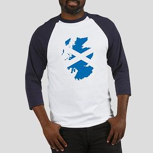 Scotland Flag Map Baseball Jersey