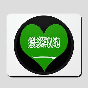 I love Saudi Arabia Flag Mousepad