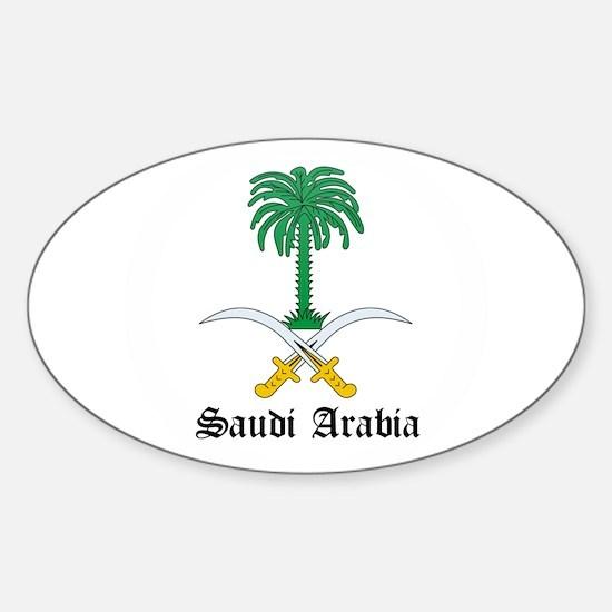 Saudi Coat of Arms Seal Oval Decal