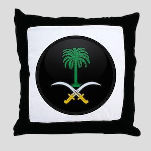 Coat of Arms of Saudi Arabia Throw Pillow