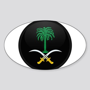 Coat of Arms of Saudi Arabia Oval Sticker