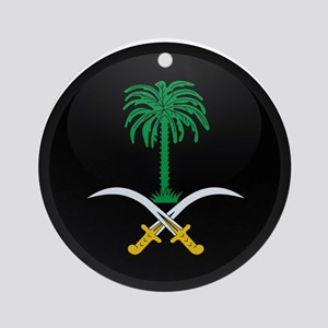 Coat of Arms of Saudi Arabia Ornament (Round)