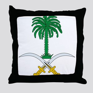 Saudi Arabia Coat of Arms Throw Pillow