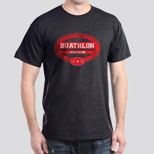 Duathlon Red Oval-Women's Spectator Dark T-Shirt