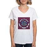 Liberty Snake Women's V-Neck T-Shirt