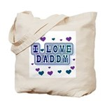 Hearts I Love Daddy Tote Bag
