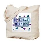 Hearts I Love Mommy Tote Bag
