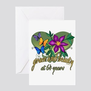 64th Birthday Grace Greeting Card