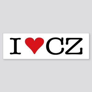 I Love Czech Bumper Sticker
