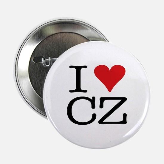 """I Love Czech 2.25"""" Button"""