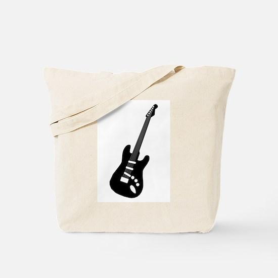 Guitar Silhouette Tote Bag