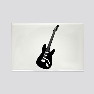 Guitar Silhouette Rectangle Magnet