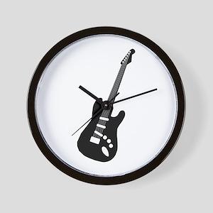 Guitar Silhouette Wall Clock