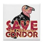 Save the California Condor Tile Coaster