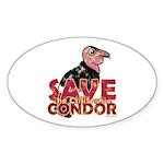 Save the California Condor Oval Sticker (50 pk)