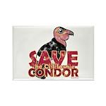 Save the California Condor Rectangle Magnet (100 p
