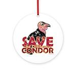 Save the California Condor Ornament (Round)