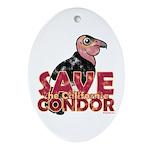 Save the California Condor Oval Ornament