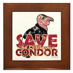 Save the California Condor Framed Tile