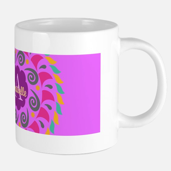Purple Personalized Monogram 20 oz Ceramic Mega Mu