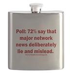 Poll: 72% say major news lies Flask