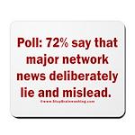 Poll: 72% say major news lies Mousepad