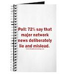 Poll: 72% say major news lies Journal