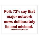 Poll: 72% say major news lies Small Poster