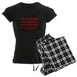 Poll: 72% say major news lie Women's Dark Pajamas