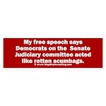 Senate Judiciary Democrats Sticker (Bumper)