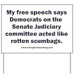 Senate Judiciary Democrats Yard Sign