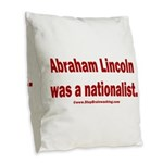 Lincoln & Washington were nati Burlap Throw Pillow