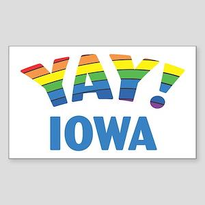 YAY! IOWA Rectangle Sticker