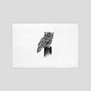 Perching Owl 4' x 6' Rug