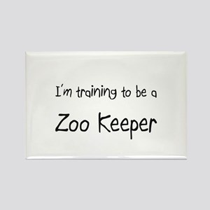 I'm training to be a Zoo Keeper Rectangle Magnet