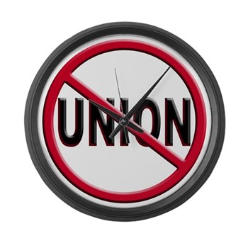 Anti-Union Large Wall Clock