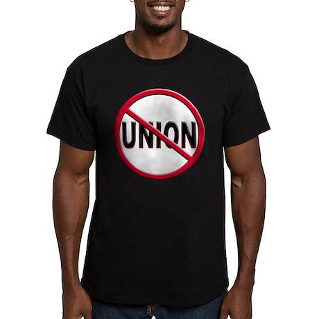 Anti-Union Men's Fitted T-Shirt (dark)