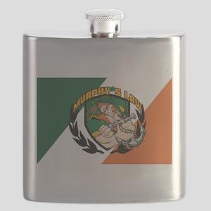 Murphy's Law Flag Flask