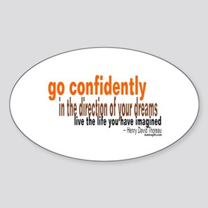 "Thoreau ""Go Confidently"" Oval Sticker"