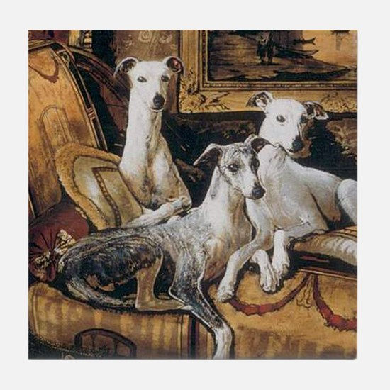 Whippets Tile Coaster