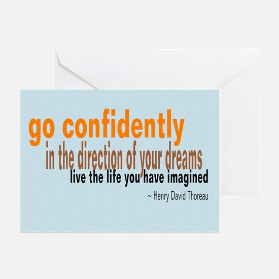 "Thoreau ""Go Confidently"" Greeting Cards"
