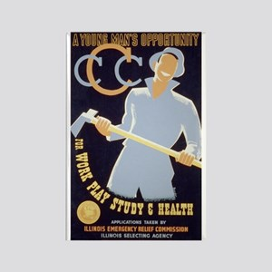 CCC New Deal Poster Rectangle Magnet