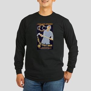 CCC New Deal Poster Long Sleeve Dark T-Shirt
